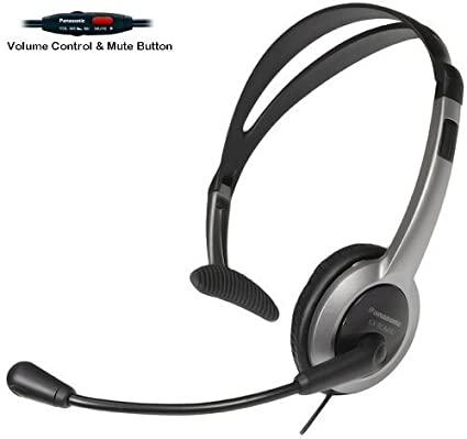 Panasonic - Auriculares de telefonista con micrófono