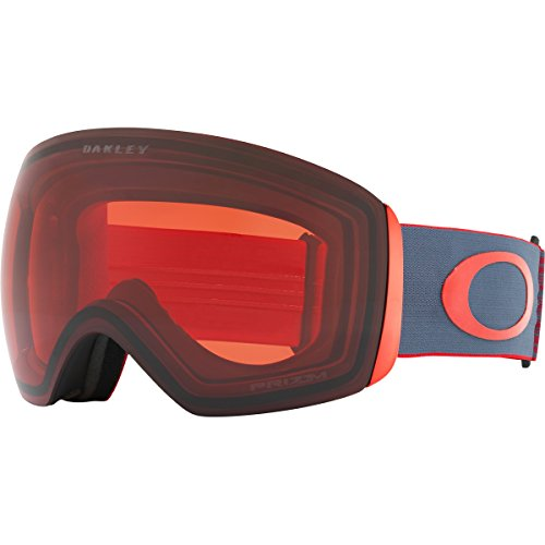 Oakley Flight Deck Snow Goggles, Wet Dry Red Iron Frame, Prizm Rose Lens, - Ski Red Oakley Goggles