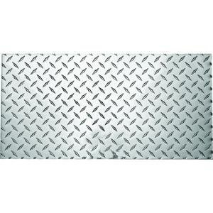 Stanley National N316-364 Stanley Diamond Plate Sheet, 0.1 Ga T, 12 In L X 24 In W, Polished Aluminum, 24 x 12