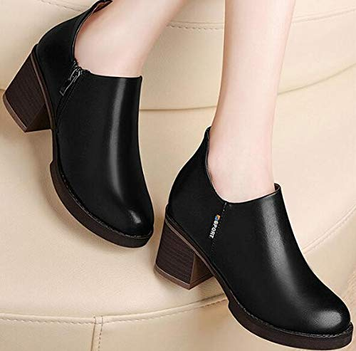 Elements Shoes Waterproof Leather Spring Platforms Popular Retro black Autumn Rough And Single In 38 Are And Shoes SFSYDDY ngSqPRx