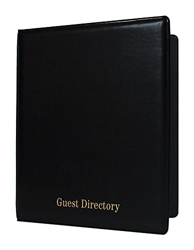 Risch IRD-HS 8.5X11 BLACK Heat Sealed Vinyl In-Room Directory with 1/2'' Nickel, 3 Ring Binder, 8.5'' x 11'', Directory in Gold Foil at Bottom of Cover, 10'' Width, 0.5'' Height, 11.5'' Length (Pack of 25) by Risch
