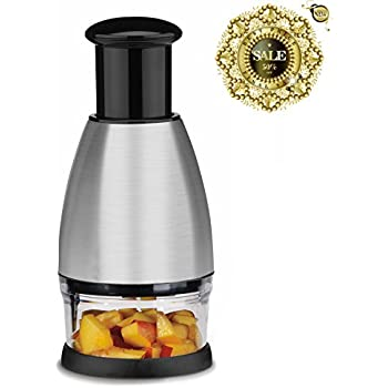 Best Utensils Premium Stainless Steel Chopper And Dicer Chop Veggies Herbs And Nuts With Ease