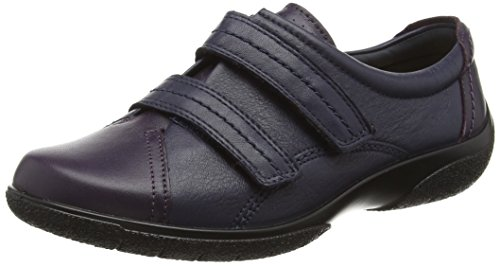HotterLeap Ee 62181 - Zapatos con velcro Multicolor (Navy/Loganberry)