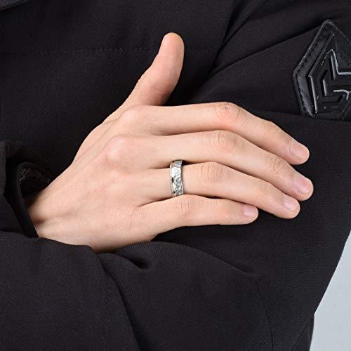 Three Keys Jewelry 6mm 8mm Hammered Facet Matte Titanium Wedding