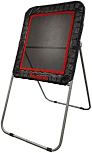Gladiator Lacrosse Professional Bounce Pitch Back/Rebounder (Black), 49X32X6, Black with Orange Accents, Model
