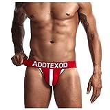 Arjen Kroos Men's Sexy Cotton Jockstrap Gym Jock Strap Underwear Red