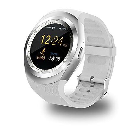 Y1 Smartwatch Reloj Inteligente Bluetooth Reloj Relogio 2G gsm SIM Sincronización De La Aplicación Mp3 para Apple iPhone Xiaomi Teléfonos Android PK DZ09 ...
