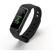 LJRYCQSSZSF Pedometer Watch Bracelet Fitness Tracker Watch Sports Bracelet with Luminous for Walking Running Kids Men Women