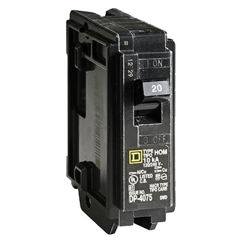 Square D by Schneider Electric HOM120CP Homeline 20 Amp Single-Pole Circuit Breaker