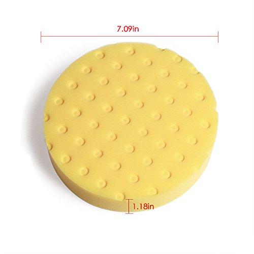 Fontic deals Pad Buffing Foam Sponge Buffing Polishing Pad Kit Set For Car Polisher Sanding Polishing Buffing,Multi-ColorX5 PCS 7Inch by Fontic (Image #1)