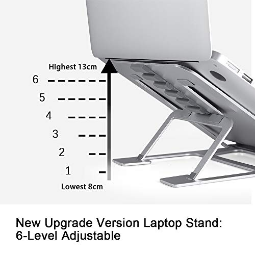Ming Haidi Laptop Stand,Update Version 6-Level Adjustable Laptop Stand Aluminum Ventilated Laptop Holder,Portable & Foldable Laptop Stand,Laptop Holder Compatible with 7 inch to 15 inch Laptop Photo #2