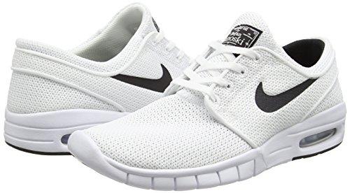 Nike Mens Bruin Mid Casual Scarpa Bianca / Nera