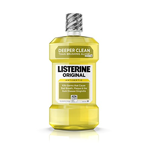 Listerine Original Oral Care Antiseptic Mouthwash with Germ-Killing Formula to Fight Bad Breath, Plaque and Gingivitis, 1.5 L(Pack of 6)