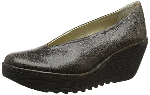 FLY London Women's Yaz Wedge Pump Slate best sale online CFI3La