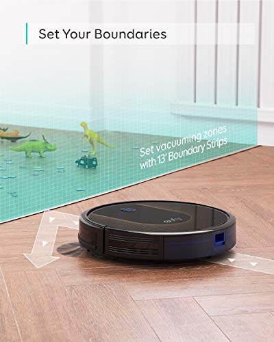 eufy [BoostIQ] RoboVac 30C, Robot Vacuum Cleaner, Wi-Fi, Super-Thin, 1500Pa Suction, Boundary Strips Included, Quiet, Self-Charging Robotic Vacuum Cleaner, Cleans Hard Floors to Medium-Pile Carpets