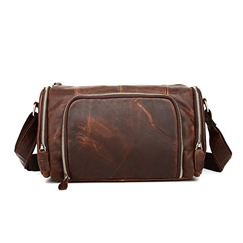 TOREEP Mens Vintage Leather Messenger Bag Crossbody Shoulder - Discount Student World Pc