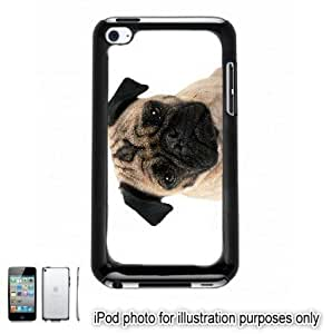 Pug Dog Photo Apple iPod 4 Touch Hard Case Cover Shell Black 4th Generation