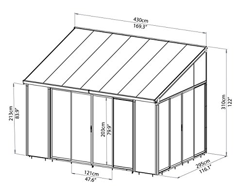 Palram Sanremo Lean To Conservatory Robust Structure