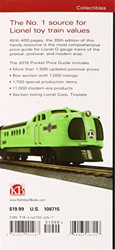 Lionel Trains Pocket Price Guide 1901-2015 (Greenbergs Pocket Price Guide Lionel Trains) (Greenbergs Guides)