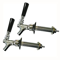 HomeBrewStuff Chrome Draft Beer Faucet and 4 1/2\