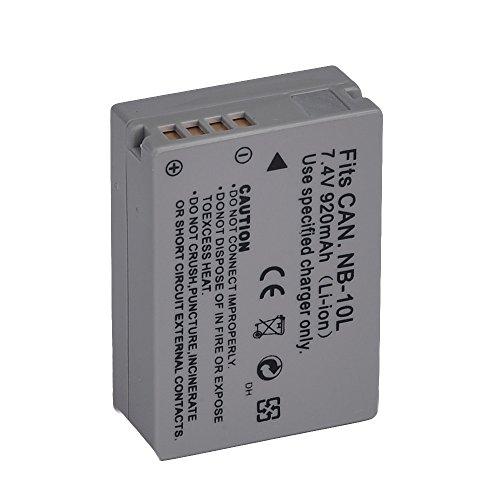 Vivitar NB-10L Ultra High Capacity 1300mAh Li-ion Battery for Canon PowerShot SX50 HS, Powershot SX40 HS, PowerShot G1X, Powershot G16, Powershot G15 (Canon NB-10L Replacement) (Battery For Canon Sx40 Hs compare prices)