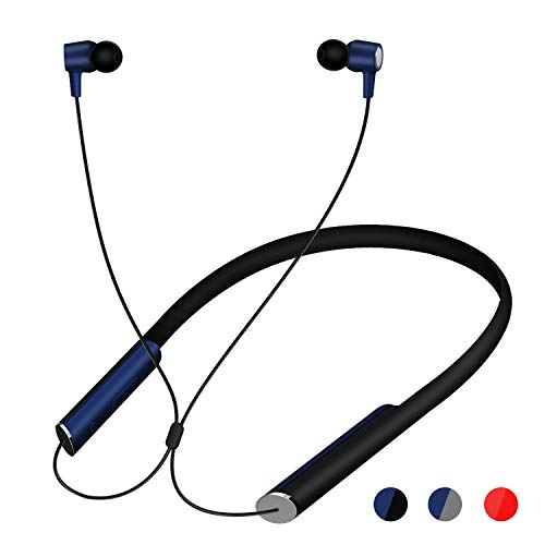 TIDTUO Bluetooth Neckband Headphones?Wireless Headphones in-Ear Bluetooth Earbuds with 14 Hours Playback Stereo Microphone Waterproof for All-Day Comfort Secure Fit and Safety for Sports Workout
