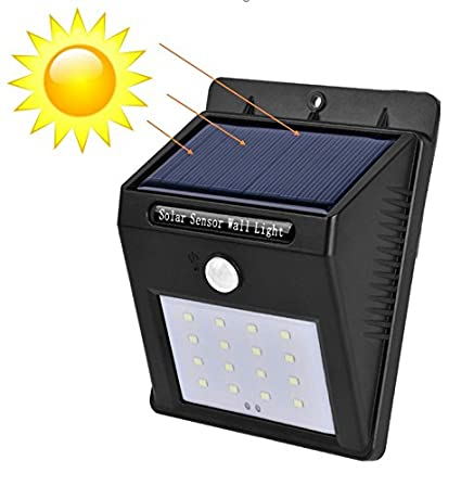 Foco Solar 16 LED Lámpara Solar para Exterior IP65 Impermeable con Sensor de Movimiento, Lámpara de Pared para Jardín, Terraza, Patio, Hogar, Local – ...