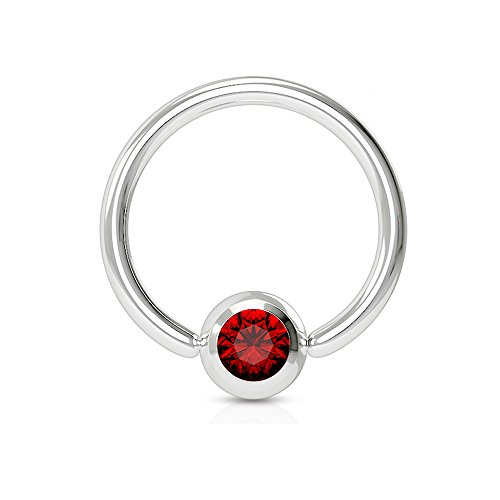 Dynamique Press FIT GEM Ball Captive Bead Ring (T: 14GA (1.6mm), L: 1/2