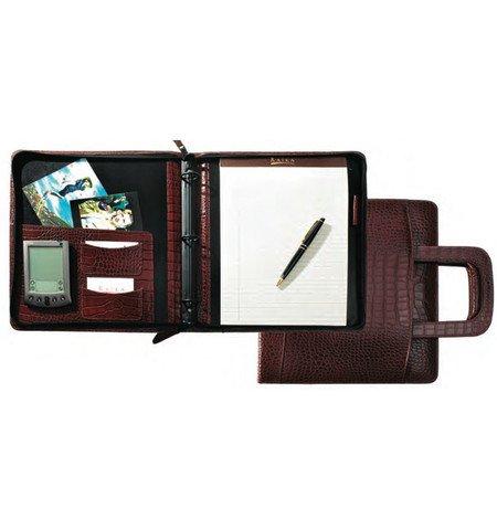 라이카 SF 181 TAN 8 x 10 인치 지퍼 개폐식 핸들 - Tan/Raika SF 181 TAN 8 x 10 in. Zipper Binder With Retractable Handle - Tan