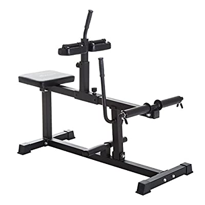 Soozier Adjustable Steel Seated Calf Raise Exercise Strength Training Gym Equipment