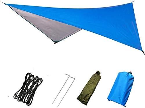 Impermeable Sun Refugio Ultraligero Carpa Lona Anti UV Beach Camping Sombra Hamaca Lluvia Mosca Camping Parasol Toldo pérgola Dosel (Color : Blue): Amazon.es: Jardín