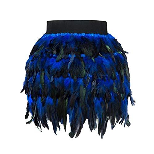 Gradient Fête Femmes Haute Bleu Discothèque Crayon Hibote Taille De Jupes Sexy Couleur Jupe Mini Noël IEwU7Xq