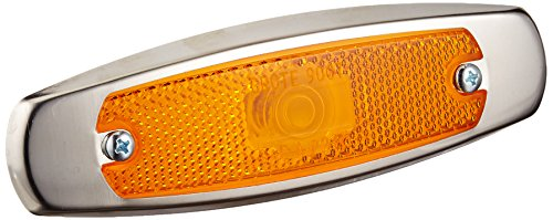 Grote 45663 Yellow Low-Profile Clearance Marker Light with Bezel (Built-in Reflector) -