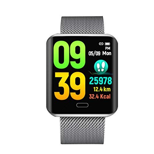 Birdfly B8 Smart Watch Sports Fitness Blood Pressure Heart Rate Monitoring Watch Under Dollar Silver