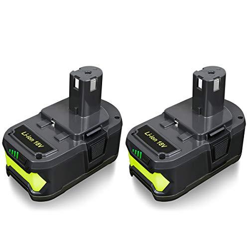 FLAGPOWER P108 18V 4000mAh Lithium Battery with LED Indicator for Ryobi 18 Volt ONE+ P102 P103 P104 P105 P107 P109 P122 Cordless Power Tools