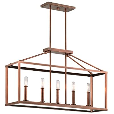 Kichler Lighting 43217ACO Archibald 5LT Linear Pendant, Antique Copper Finish