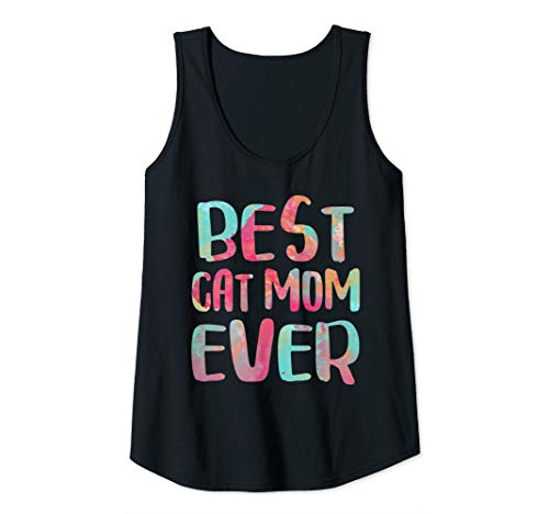 Womens Best Cat Mom Ever T-Shirt Mother's Day Gift Shirt Tank -