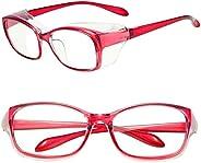 Safety Goggles Glasses, Anti Fog/Pollen/Saliva Blue Light Blocking HD UV Protection Glasses for Men Women