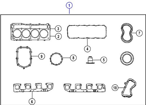 Mopar 5135357AG Head Gasket Set by Mopar (Image #1)'