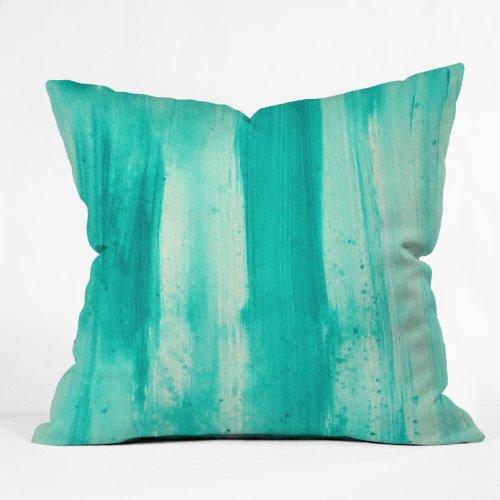 Deny Designs Madart Inc. Modern Dance Aqua Passion Throw Pillow, 16 x 16 by Deny Designs