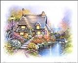 Cottage on Pond I Paper Tole 3D Kit 8x10