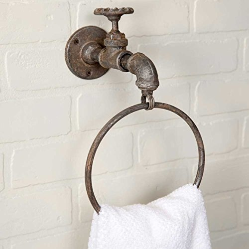 Colonial Tin Works Unique Vintage Water Faucet Spigot Towel Ring. 6¾'' Diameter by Colonial Tin Works