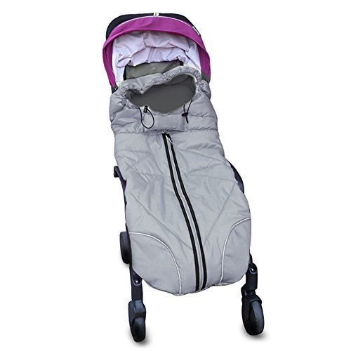Universal Baby Stroller Sleeping Bag Footmuff, 40'x 18' (Grey)
