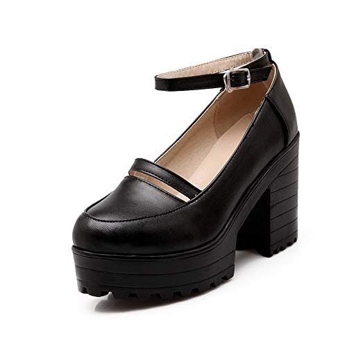 Noir Noir SDC05671 36 AdeeSu 5 Femme EU Plateforme wIaZZqf