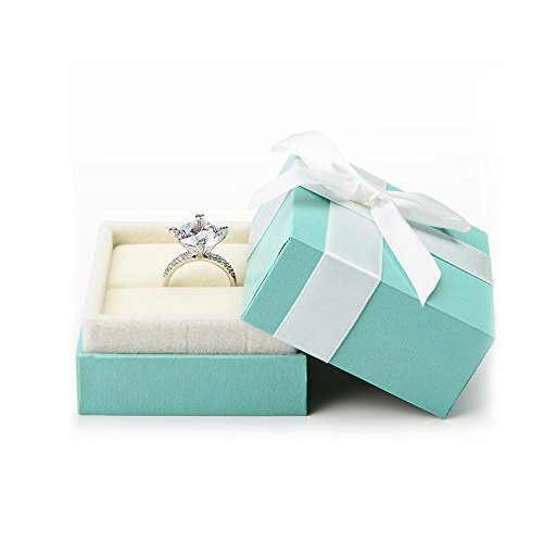 Oirlv Velvet Ring Box Bow-Knot Wedding Jewelry Packaging Gift Box Showcase Display