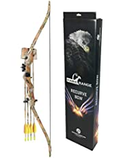 2FCB Black Child Bow Arrow Straight Bow Hunting Bow Competitive Competition