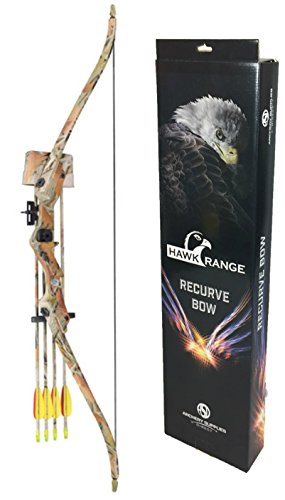 Kids Child Camo Hawk Compound Bow And Arrow Archery Set With Arrows
