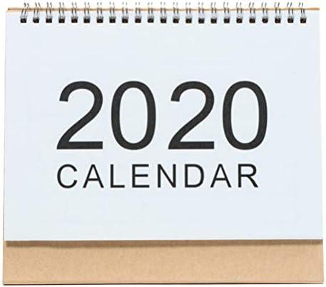Holibanna 2020 Tischkalender Tisch Neujahrsplaner Drahtgebundene Monatskalender Größe l