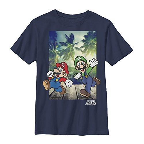 FIFTH SUN Nintendo Big Boys Running Mario Graphic T-shirt...