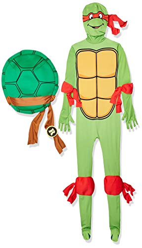 Ninja Turtles Suits (Rubie's Men's Raphael 2Nd Skin Adult Costume with Removable Shell, Multi-Color,)